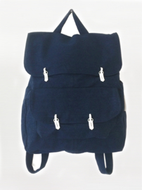 DONKER DENIM RUGZAK - THE BACKPACK