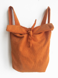 CORDUROY ORANJE RUGTAS- FOLDER BAG