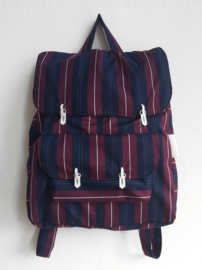 BLAUW & AUBERGINE STREEP - THE BACKPACK