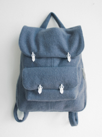 BLAUW WOL RUGTAS - THE BACKPACK