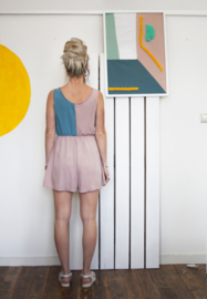 COLOUR BLOCK SHORT JUMPSUIT