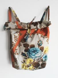 FLOWER ORANJE RUGTAS- FOLDER BAG