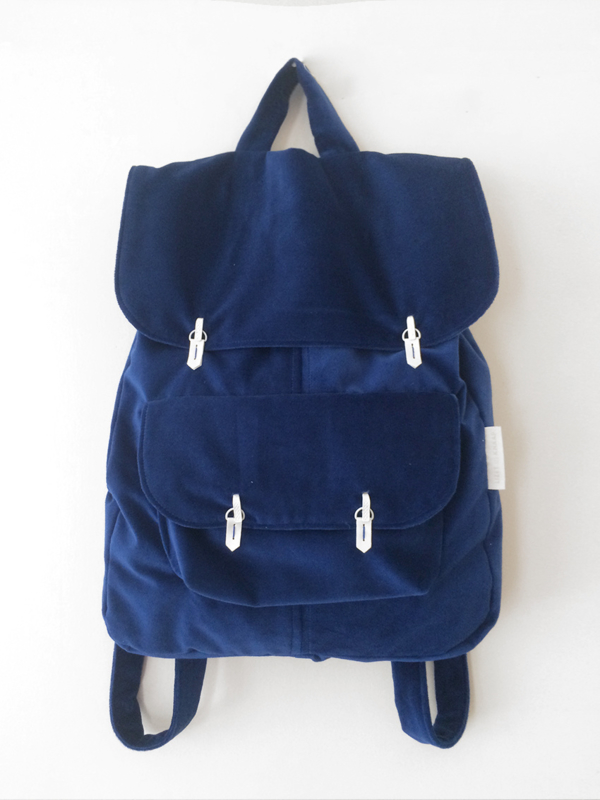 ROYAAL BLAUW VELVET RUGTAS - THE BACKPACK