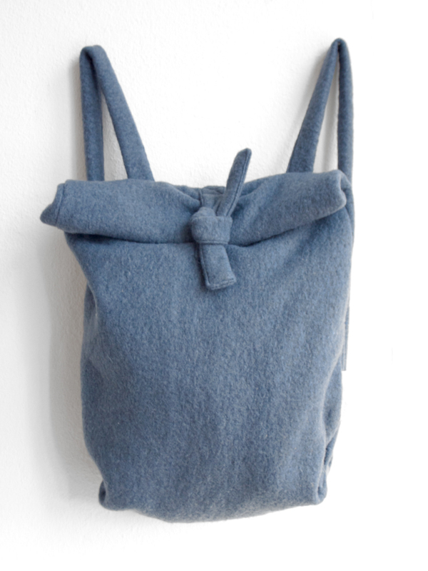 BLAUW WOL RUGTAS - FOLDER BAG