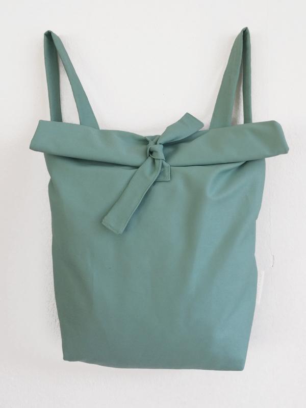 MINT GROEN RUGTAS - FOLDER BAG
