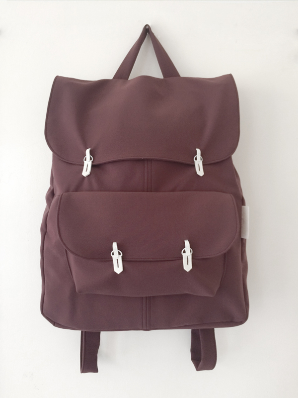 AUBERGINE RUGTAS - THE BACKPACK