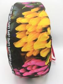 Meditatiekussen tulips