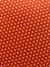 Meditatiekussen paars-oranje rondjes / VERKOCHT