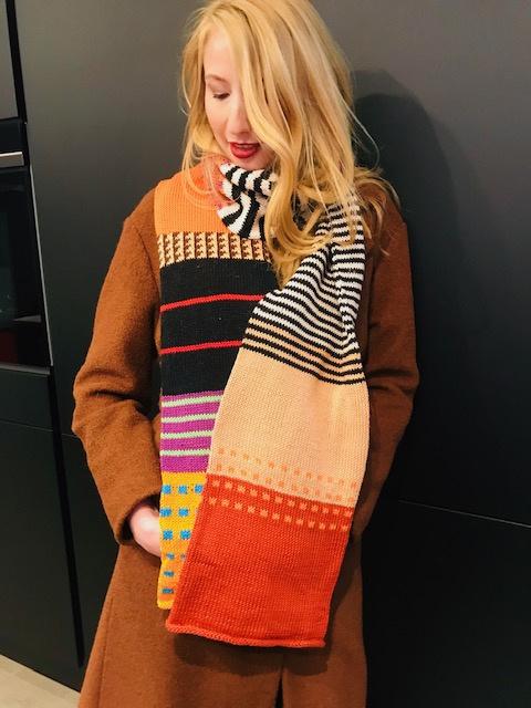 Sjaal dubbelgebreid