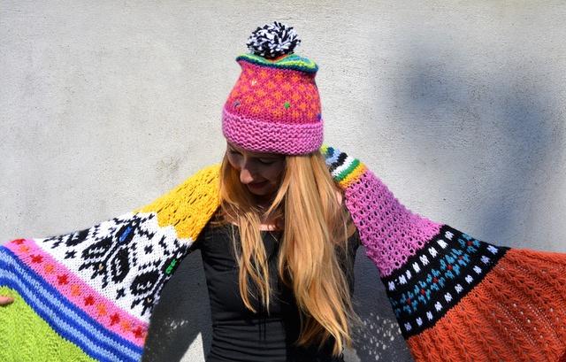 Motieven- en -veel -kleuren -sjaal