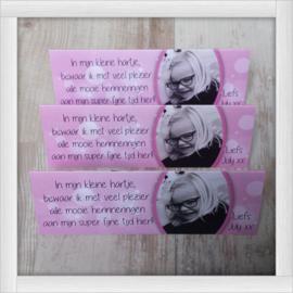 Roze / Eigen ontwerp