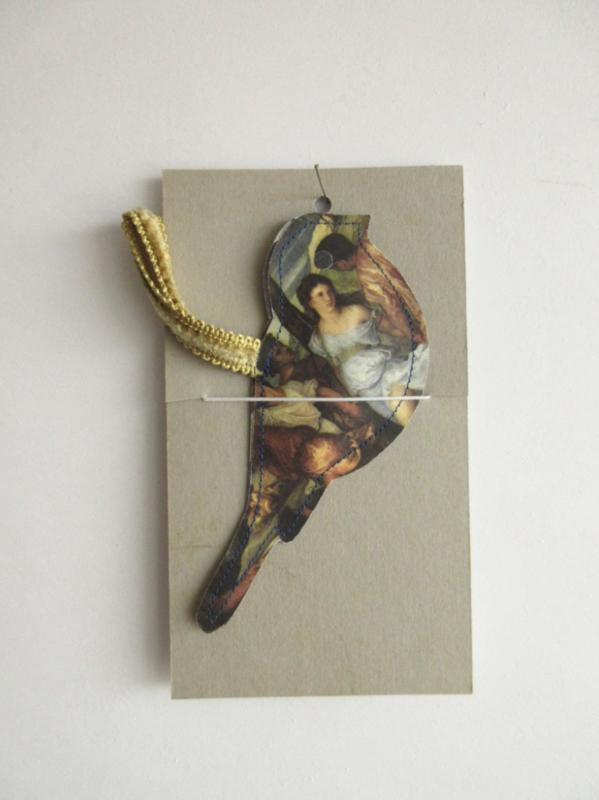 Keep vogel - handgemaakt - 14cm