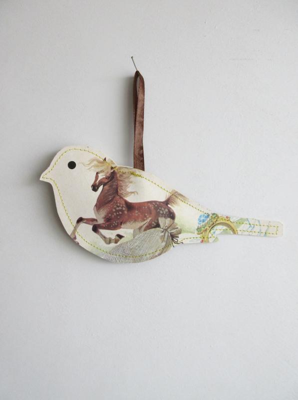 Keep vogel van papier - 20cm