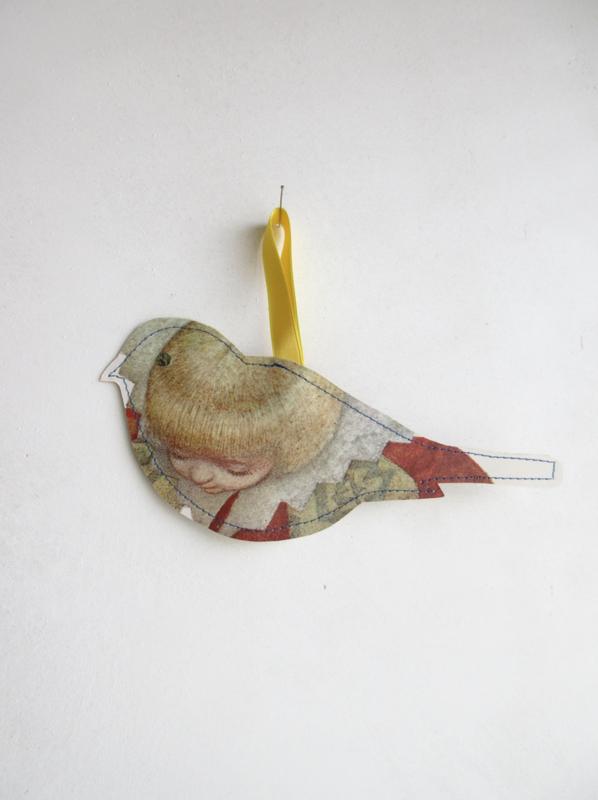 Keep vogel - papier - 20cm