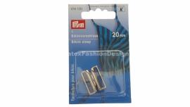 Bikini/BH sluiting, 20 mm, zilver