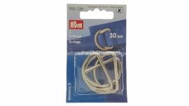 D-ring, 30 mm, silver (Prym)