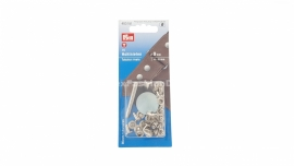 Rivits hollow,  4-6 mm, silver (Prym)
