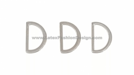 D-anneau, 15 mm, argent