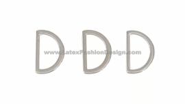 D-ring, 15 mm, zilver