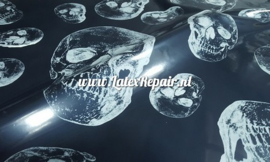 Latex rubber sheet Halloween skull
