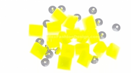 Studs with pin, plastic, yellow neon
