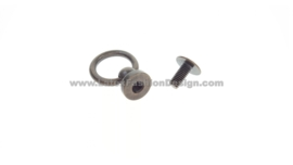 Button/knob with ring, bronze,  10 mm