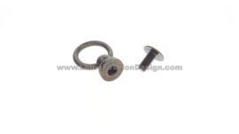 Knop met ring, brons 10 mm (binnenkant ring)
