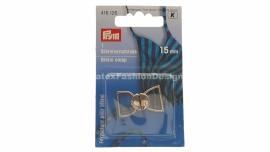 Bikini/BH sluiting, 15 mm, zilver