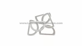 D-ring, 10 mm, zilver