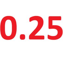 Latex dikte 0.25
