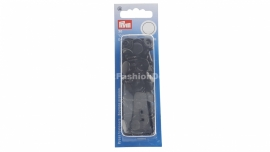 Plastic snaps / press stud, black, color snaps (Prym)
