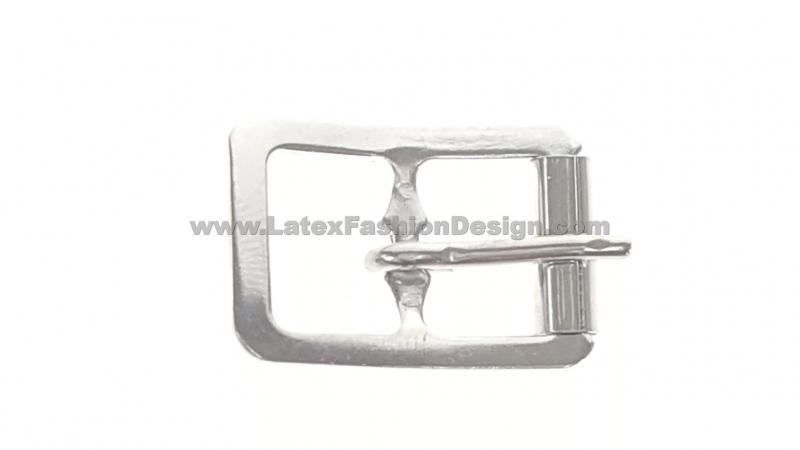 Rolgesp, 21 x 27 mm, doorvoer 16, zilver