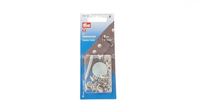 Holle nieten,  4-6 mm, zilver (Prym)