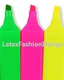 Studs met pinnetje, plastic, neon pink