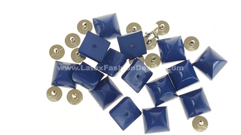 Studs met pinnetje, plastic, blauw