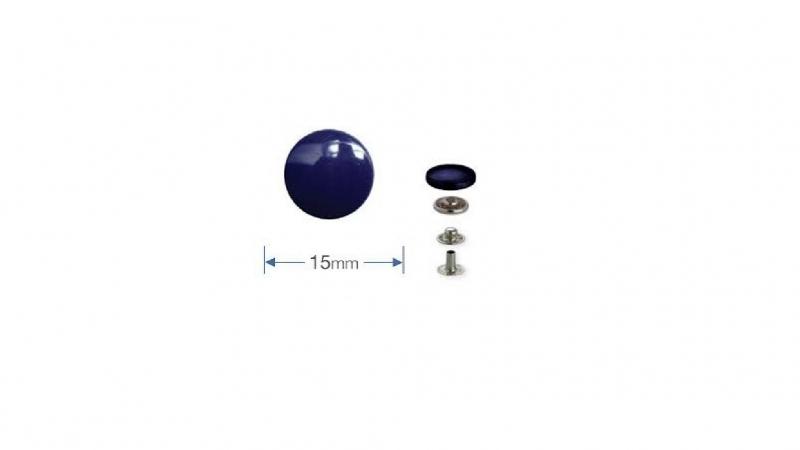 Drukknopen, anorak, 15 mm, zilver (Prym)