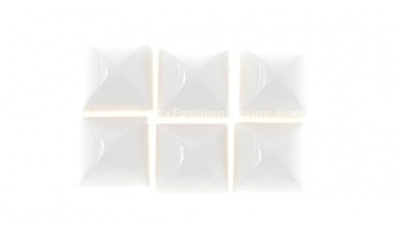 Studs met pinnetje, plastic, wit
