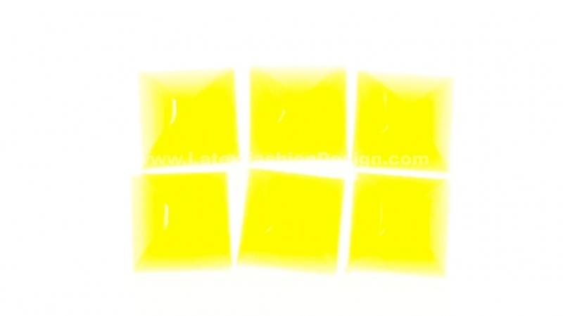 Studs met pinnetje, plastic, neon geel