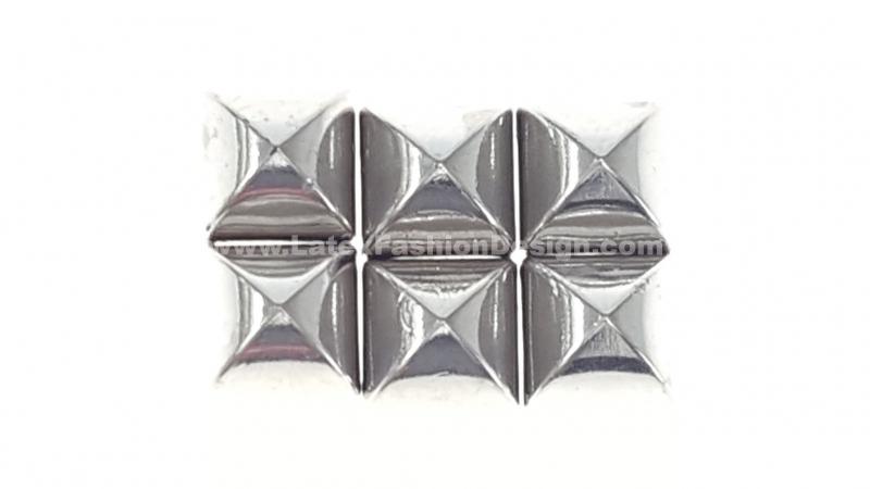 Studs met pinnetje, plastic, zilver