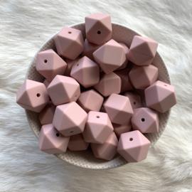 Hexagon - old pink