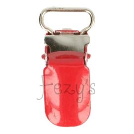 Speenclip metaal 10mm - rood