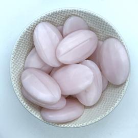Groot ovaal - parelmoer roze