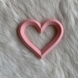 Hart met 2 gaten - licht roze