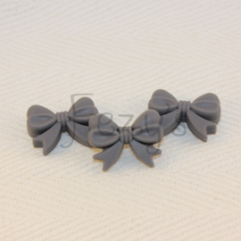 Strikje - donkerder grijs