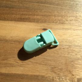 Pacifier clip plastic 20mm - mint