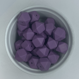 Small hexagon - antique purple