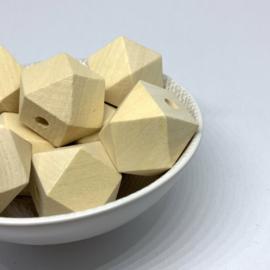 Houten hexagon - 25mm (esdoorn)