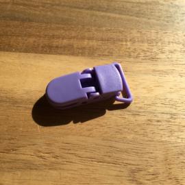 Pacifier clip plastic 20mm - purple