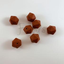 Icosahedron 17mm - roestbruin
