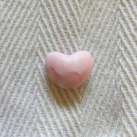 Hartje - marmer zacht roze